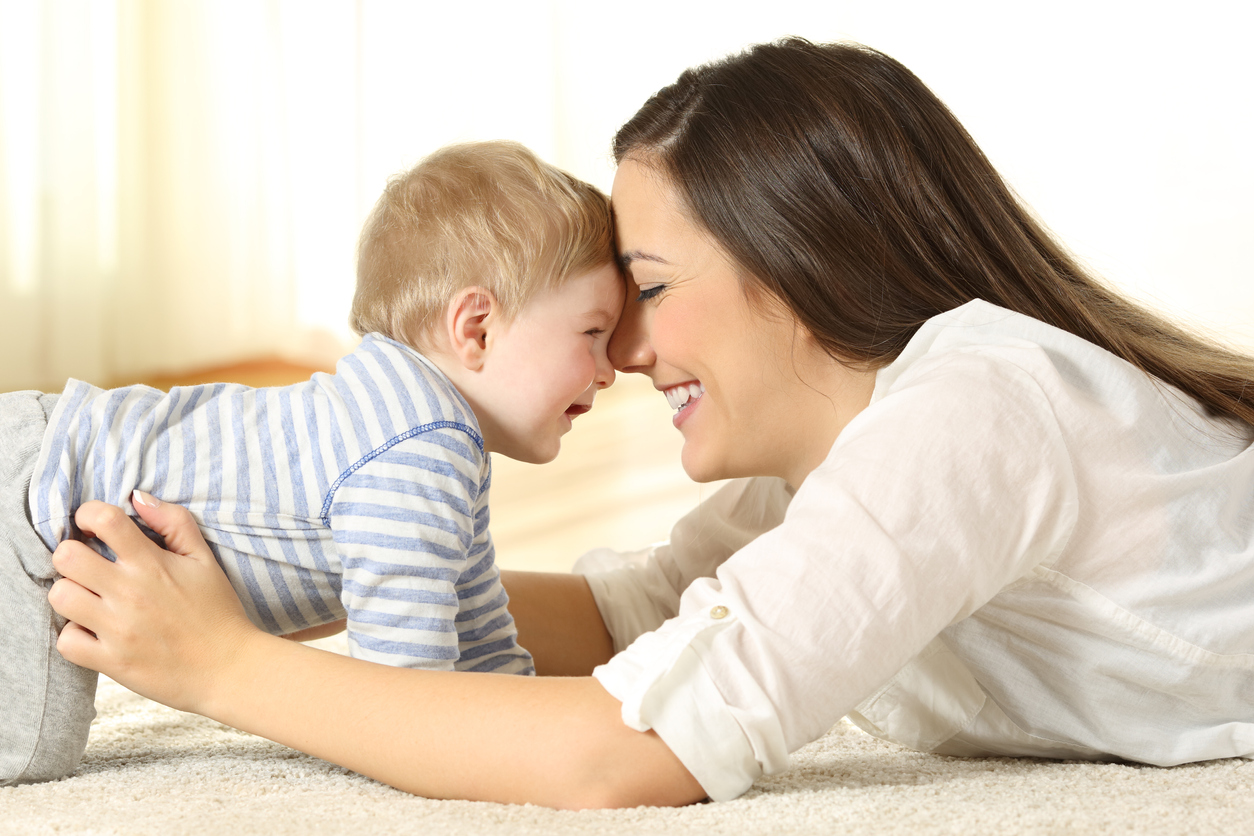 Image of a mother and child bonding